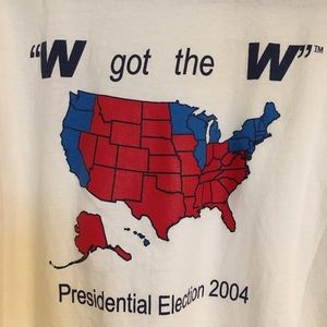 Vintage 2004 George W Bush LS XL tee shirt